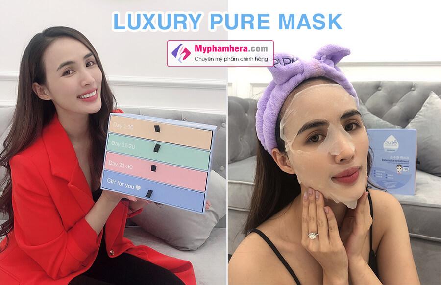đối tượng sử dụng mặt nạ luxury pure mask myphamhera.com