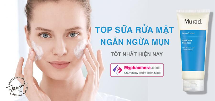 hướng dẫn sử dụng sữa rửa mặt trị mụn murad myphamhera.com