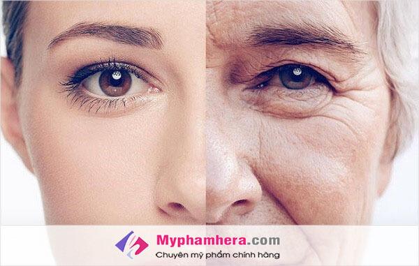 Biểu hiện của làn da bị lão hoá