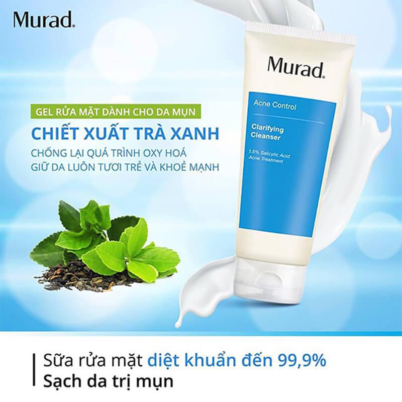 vì sao bạn nên chọn sữa rửa mặt trị mụn murad myphamhera.com
