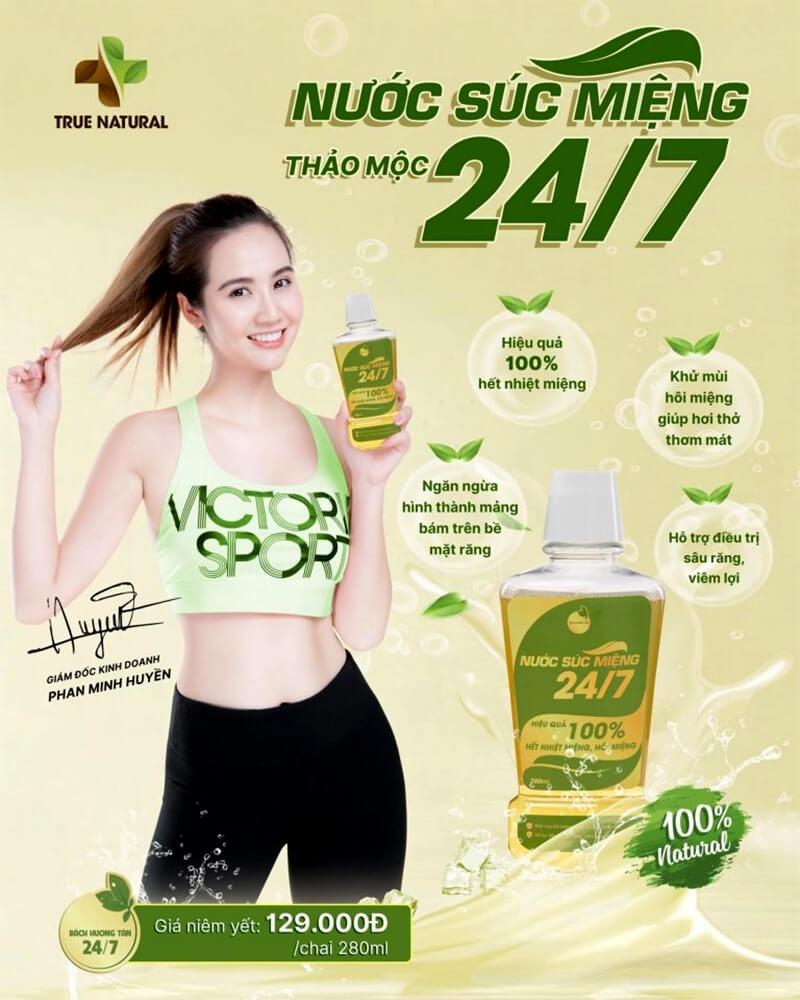 banner nước sút miệng thảo mộc 24/7 true natural myphamhera.com