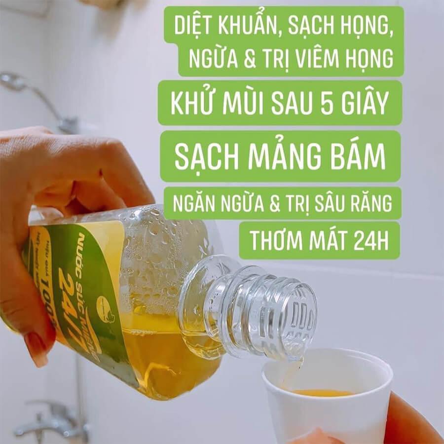 hướng dẫn sử dụng nước súc miệng thảo mộc bách hương tán 24/7 myphamhera.com