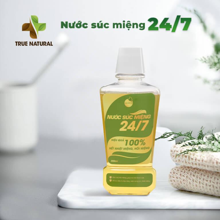 nước súc miệng thảo mộc bách hương tán 24/7 true natural myphamhera.com