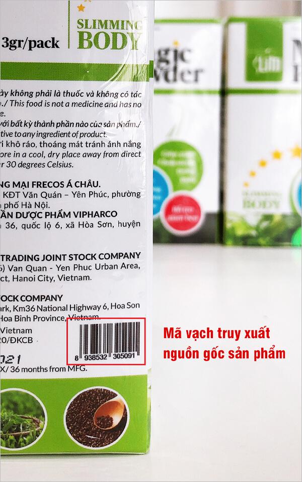 cách kiểm tra bột cần tây herbslim chính hãng myphamhera.com
