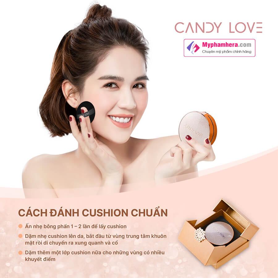 hướng dẫn sử dụng phấn nước magic cushion candy love myphamhera.com