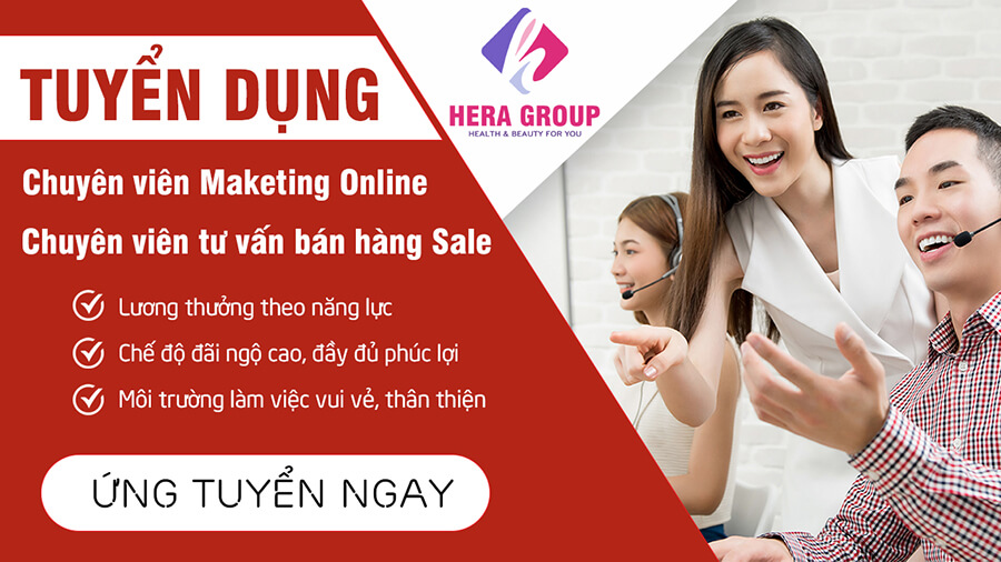 banner tuyển dụng nhân viên marketing sale online myphamhera.com