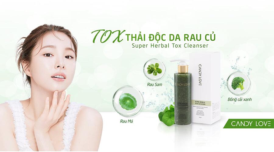 thành phần tox thải độc rau cũ super herbal tox cleanser myphamhera.com
