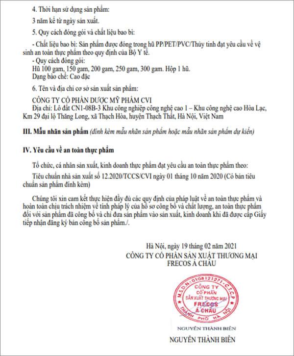 avata giấy chứng nhận công bố cao detox thanh nhiệt giải độc myphamhera.com
