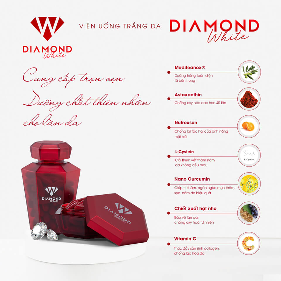 Viên uống trắng da Diamond White-Myphamher.com