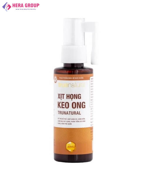 xịt họng keo ong true natural myphamhera.com