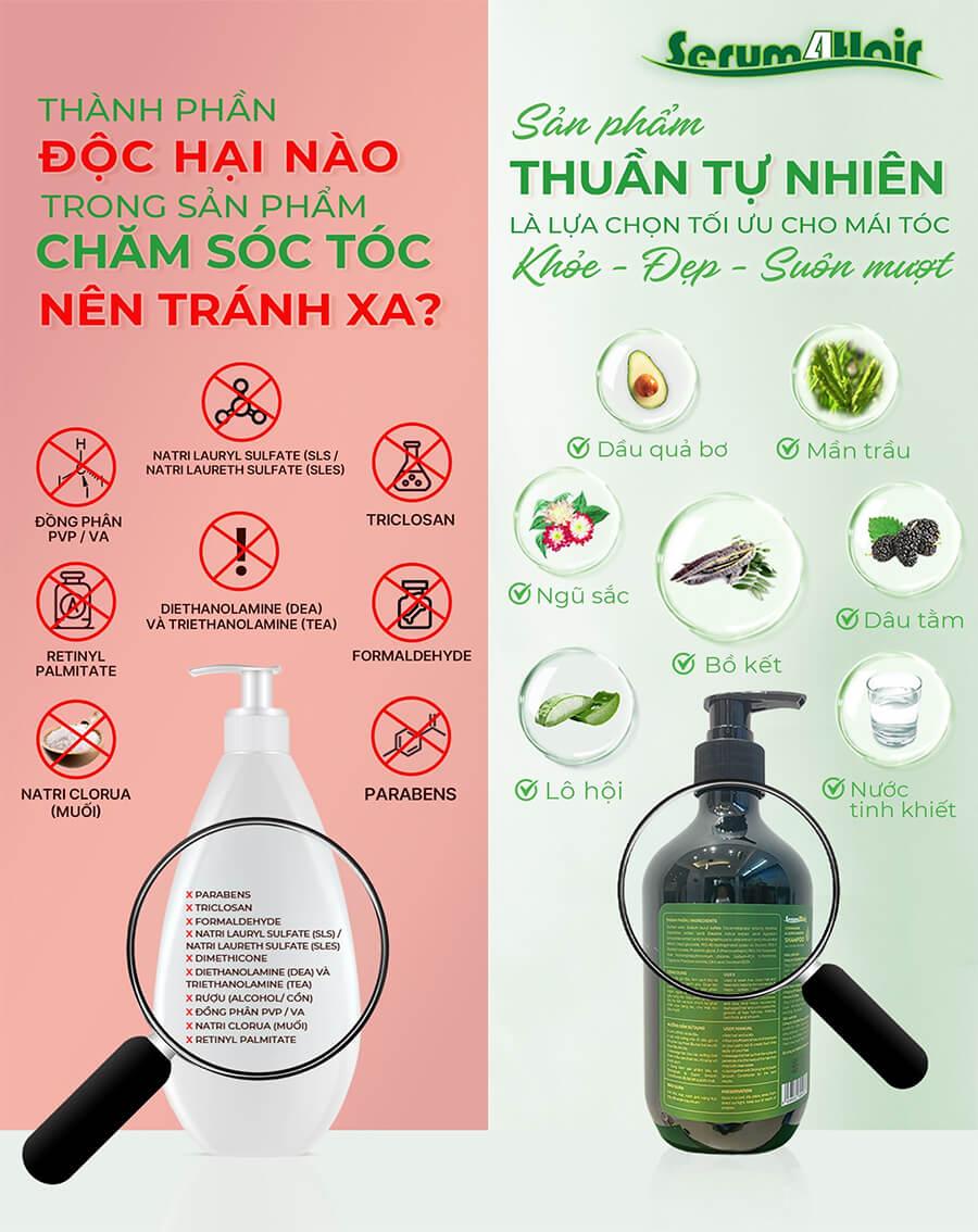 những thành phần độc hại có trong sản phẩm chăm sóc tóc myphamhera.com